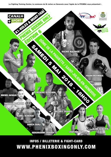 Phenix Boxing Only : le 5 mai !