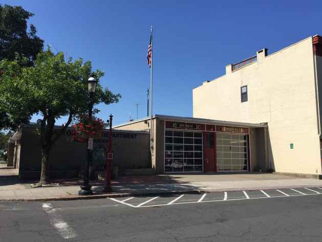 The house where Leonard was born stood on the site of this firehouse