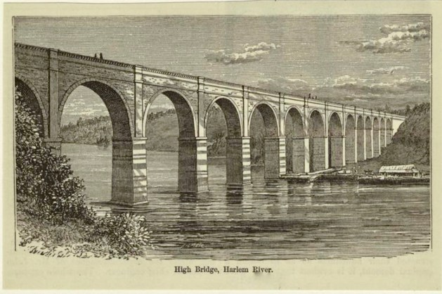 High Bridge, the oldest remaining Harlem River crossing , designed by John B. Jervis