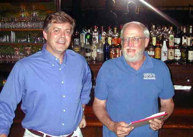 Jim Laird and Henry Atterbury at the Tarry Inn
