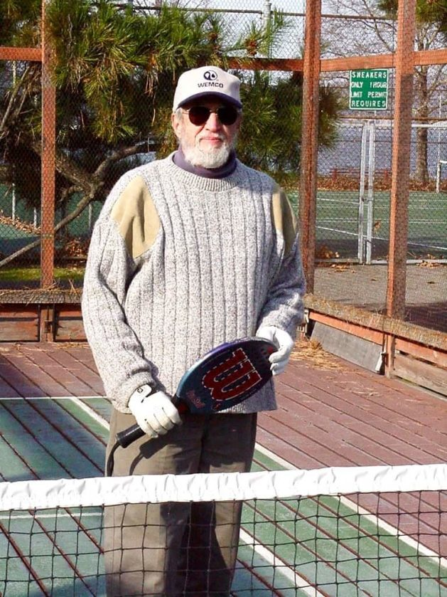 jim Laird with paddle