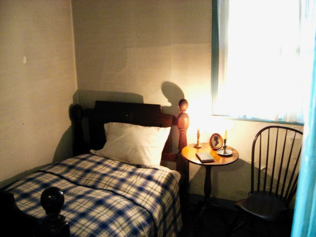 Poe cottage 1st floor Virginia's bedroom