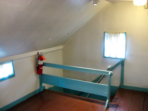 Poe cottage stair at 2nd floor