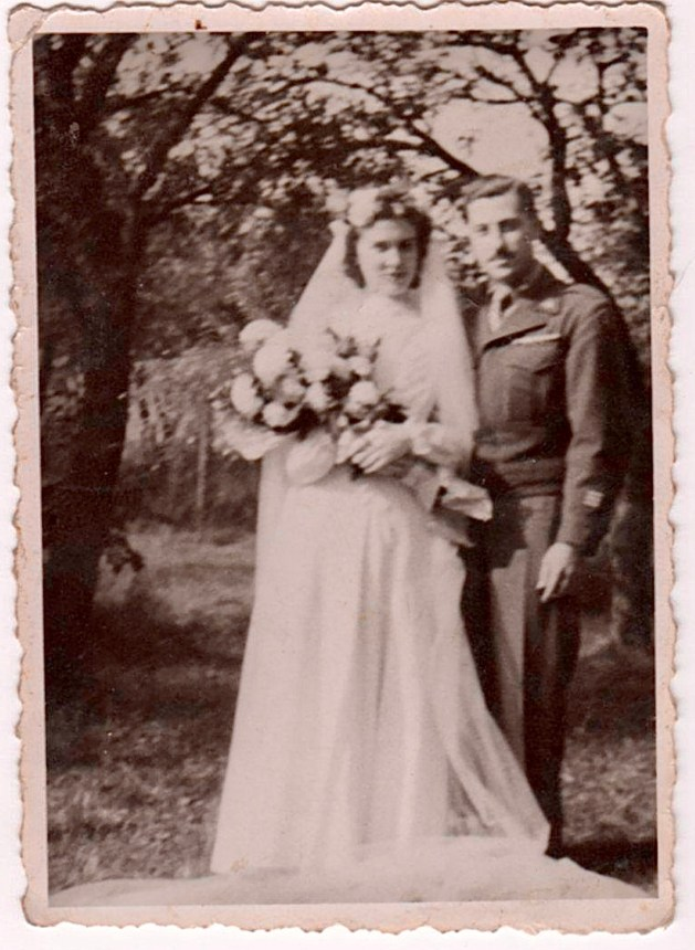 Leo and Lucie wedding, in France, October 1945