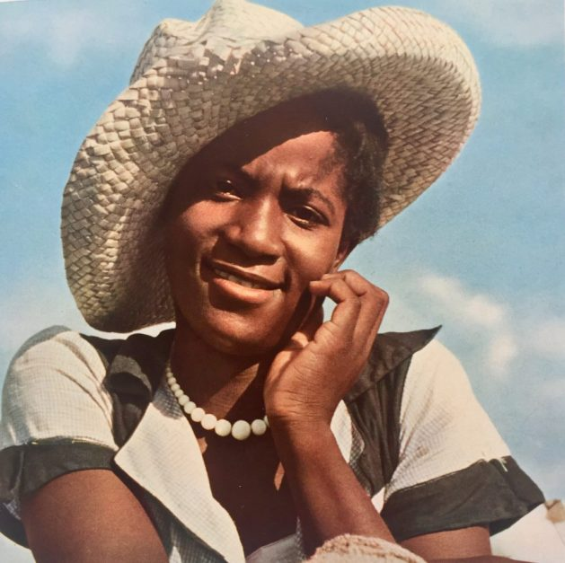 Southern woman, a picker of cotton