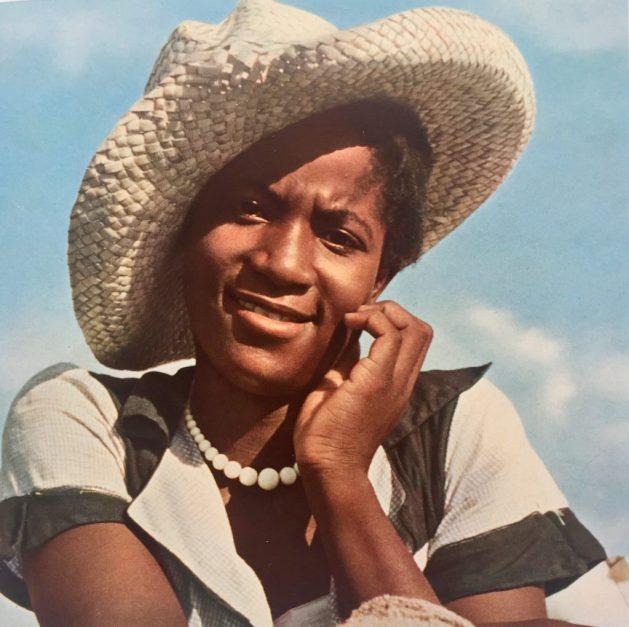 Southern woman, a picker of cotton
