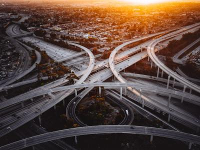 busy highway system auto industry