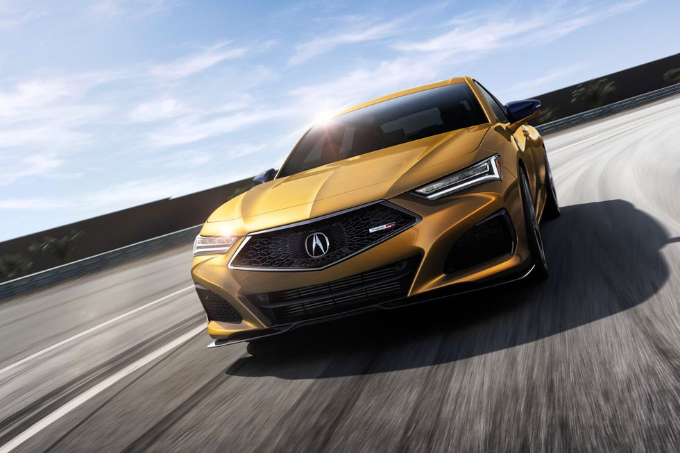 2021 Acura TLX in gold