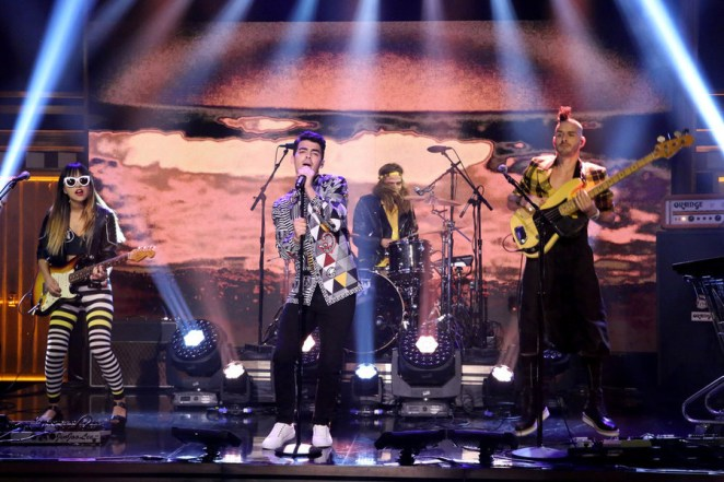 Image result for dnce performing