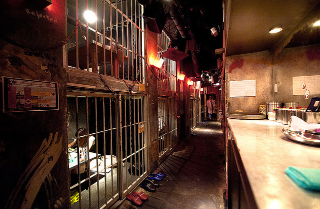 jail cell is your dinner table