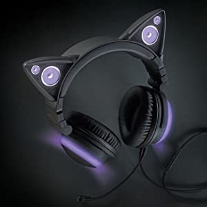 ariana grande brookstone wired cat ear headphones