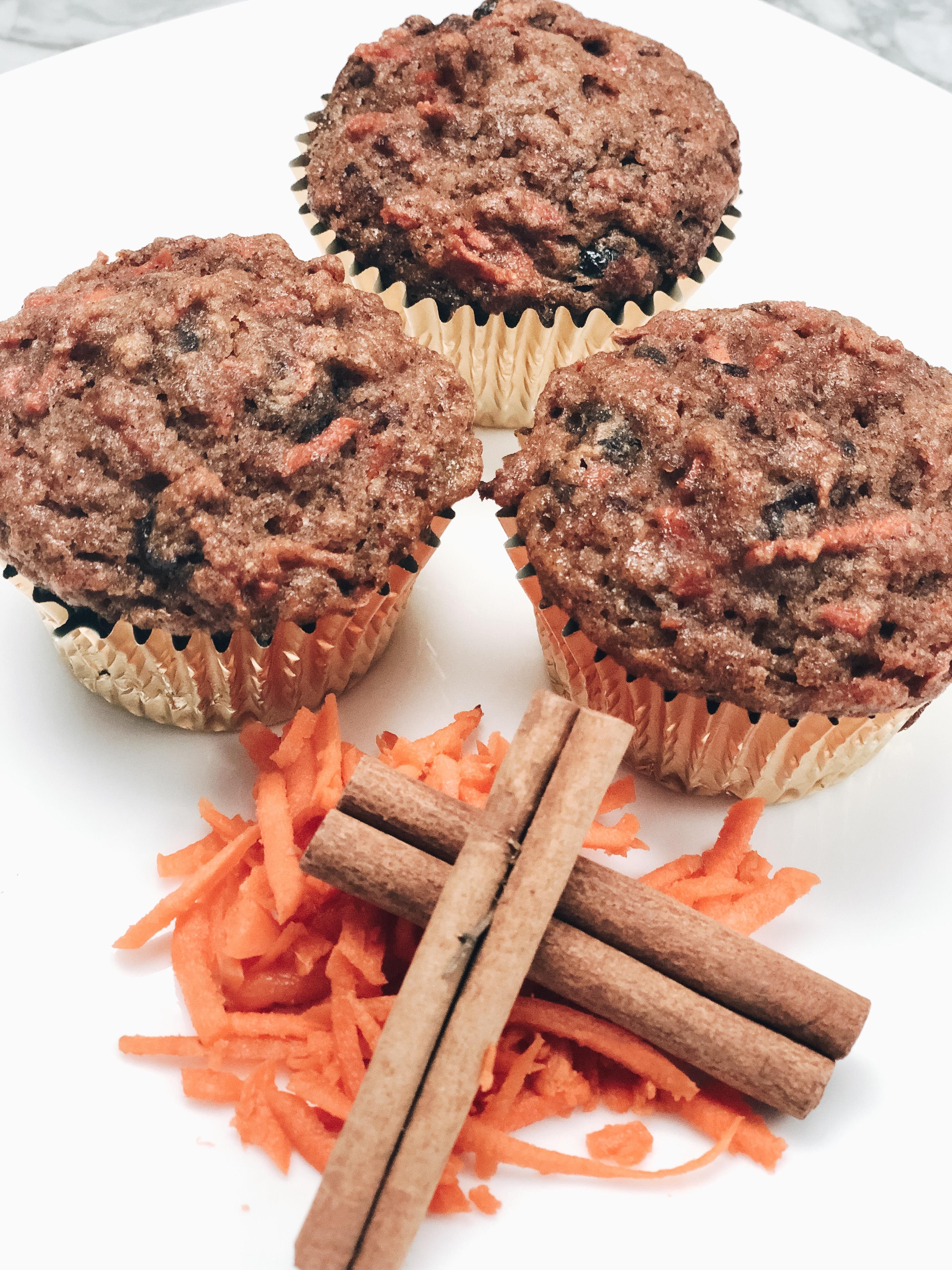 Carrot  Crasin Coconut Flour Muffins
