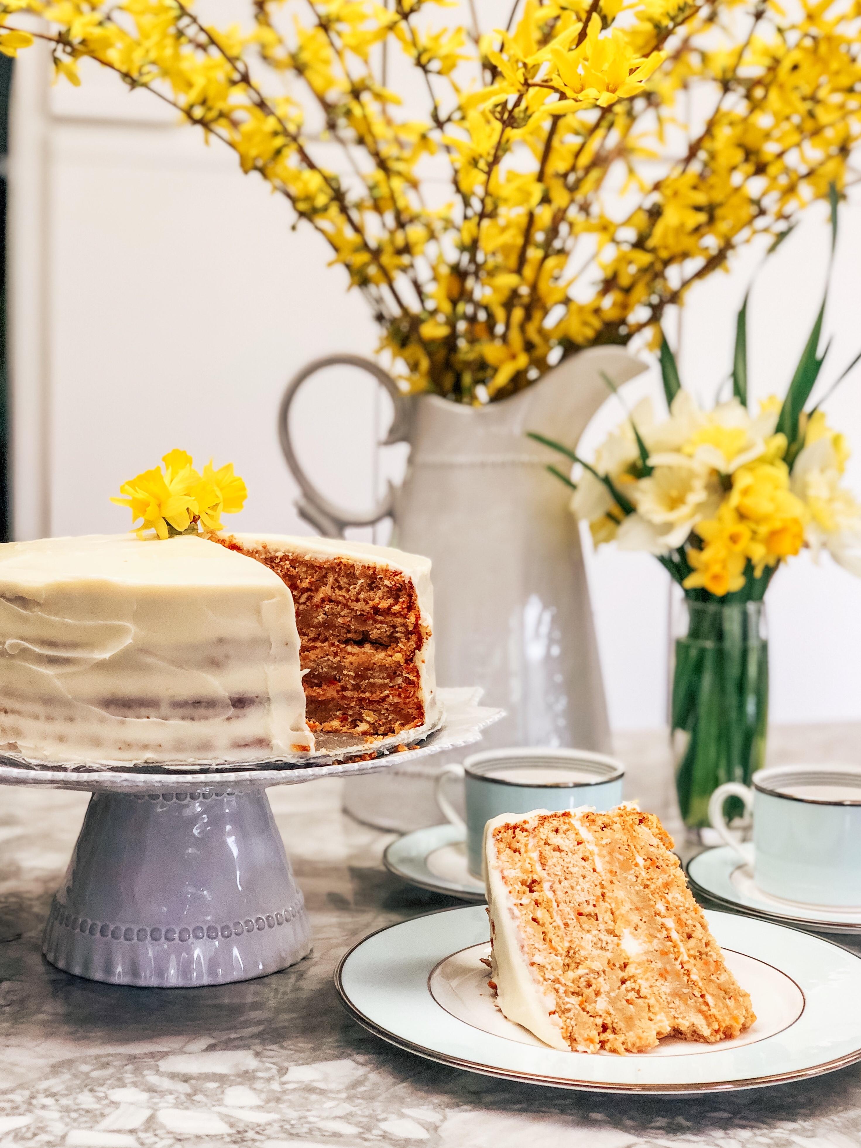 Reduced Sugar Carrot Cake