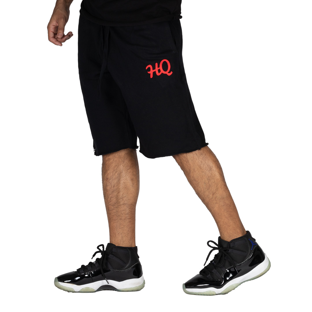 HQ Sweat Shorts Black/Red