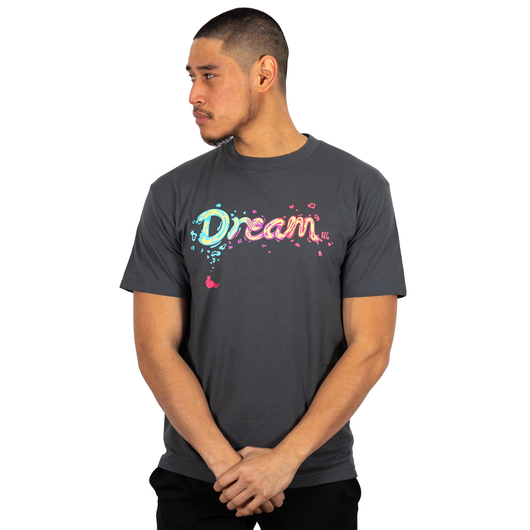 """Dream BIG"" Tee Charcoal"
