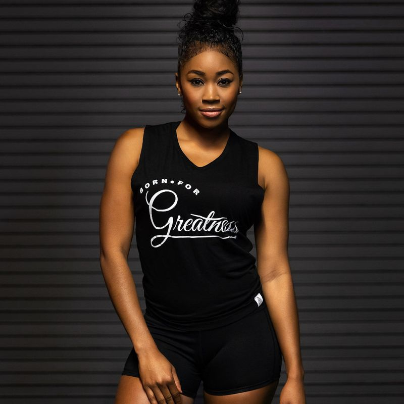 """WMNS """"Greatness"""" Muscle Tank Black"""