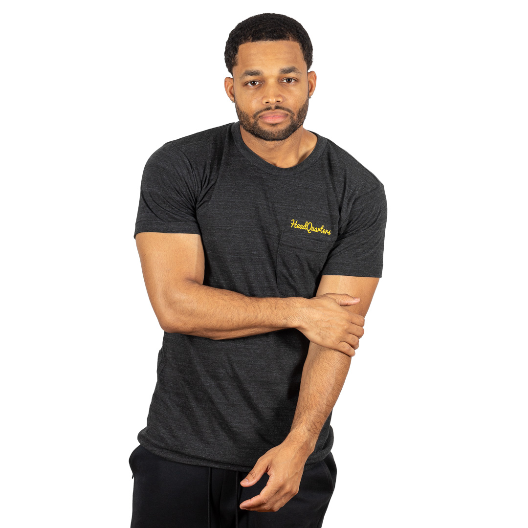 Logo Pocket Tee Tri-Black Gold