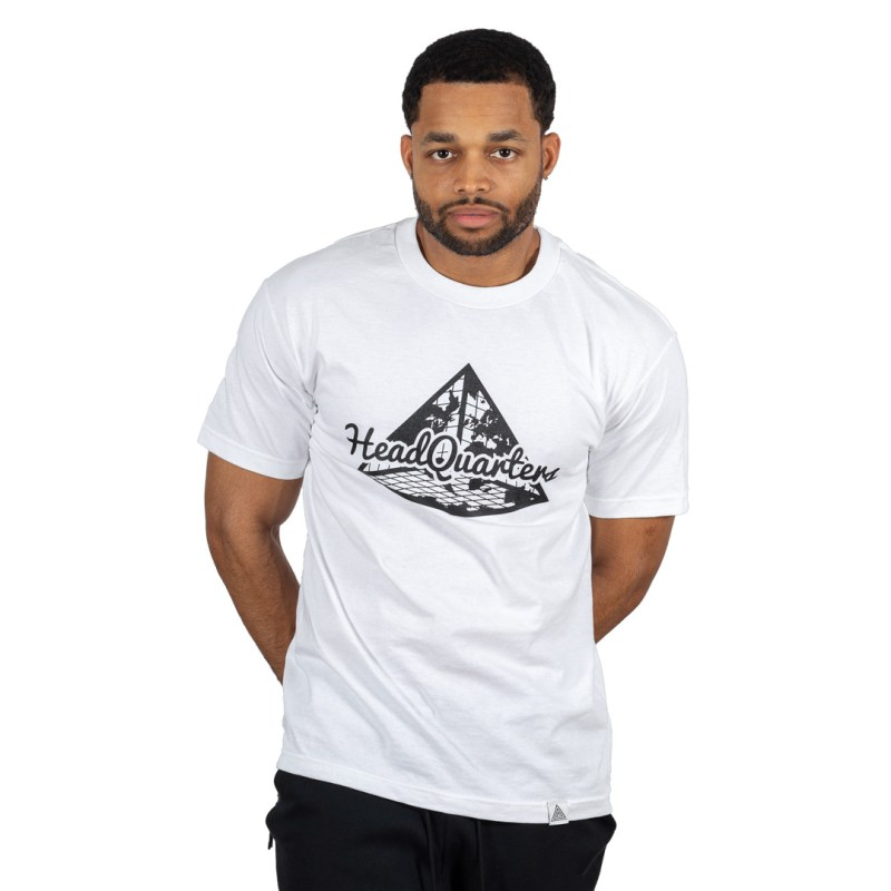 HQ Logo Tee White