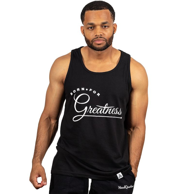 """Greatness"" Tank Black"