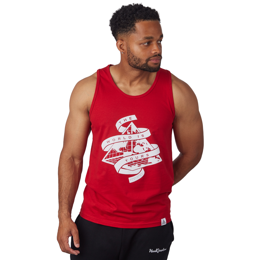 """The World is Yours"" Tank Red"