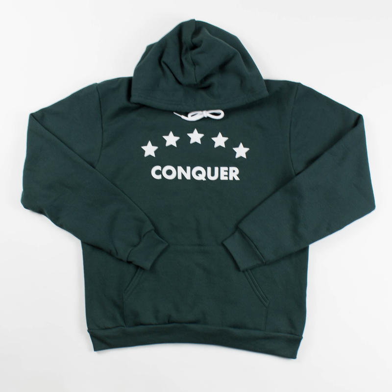 "Unisex ""Conquer"" Hoodie Forest"