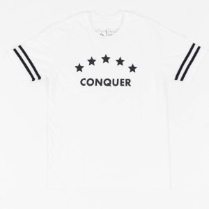 """Conquer"" Tee White"