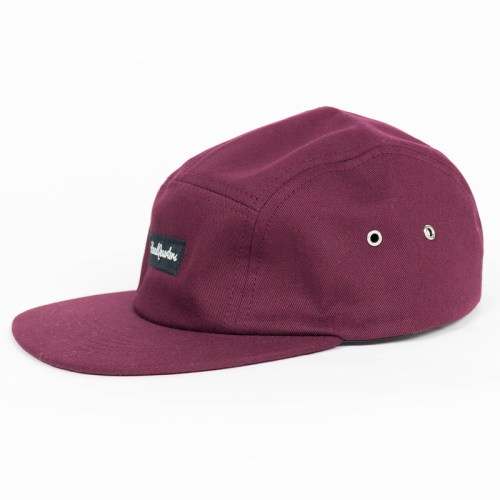 HeadQuarters Five Panel Hat Burgundy