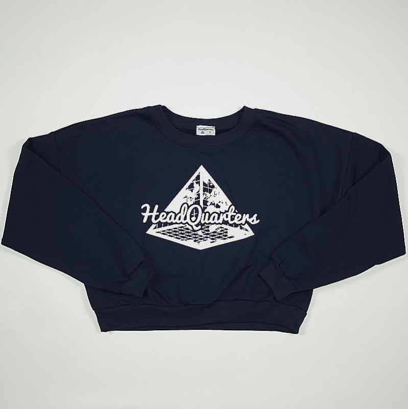 Logo Cropped Sweatshirt Navy