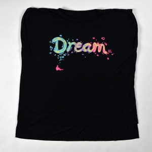 WMNS Dream Big Flowy Muscle Tee Black