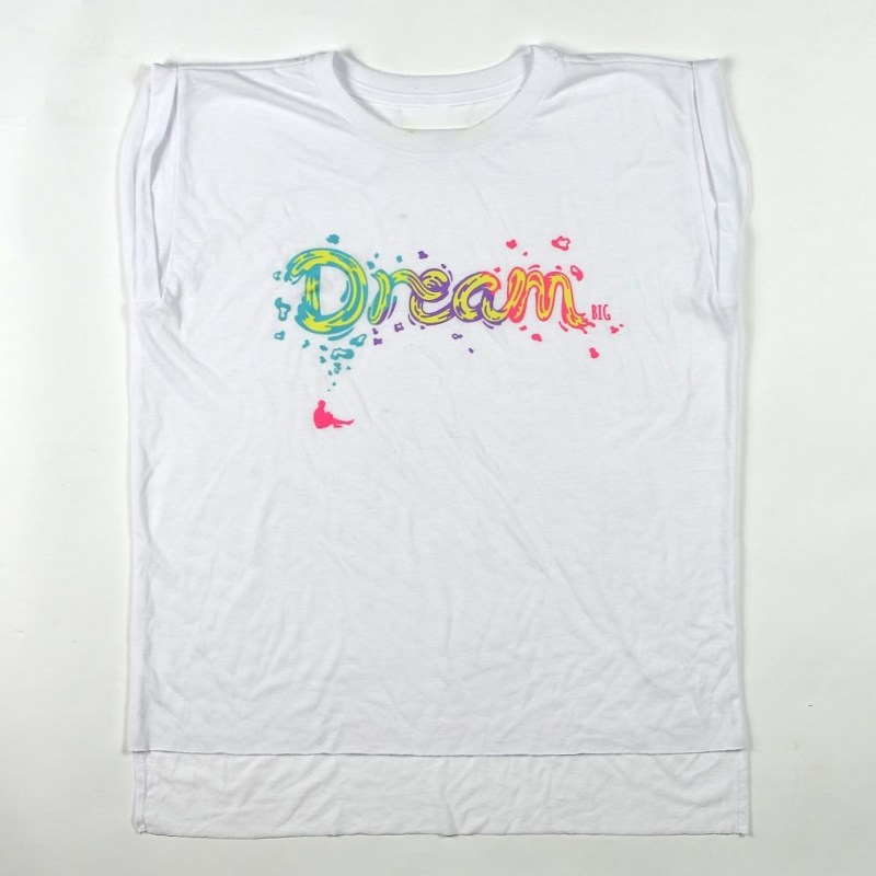 WMNS Dream Big Flowy Muscle Tee White