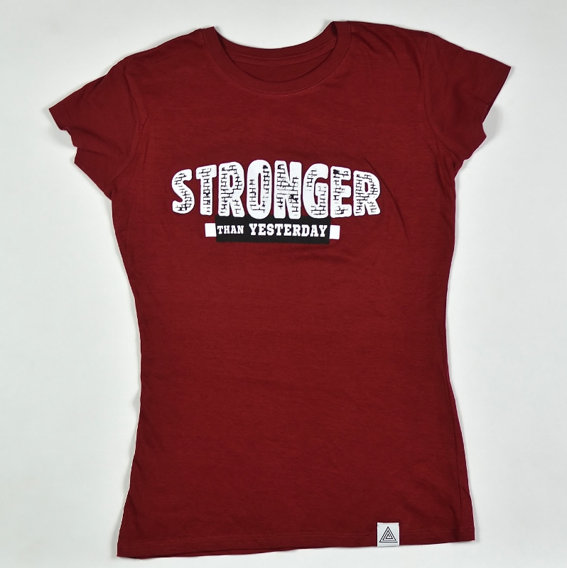 "WMNS ""Stronger Than Yesterday"" Tee Cardinal"