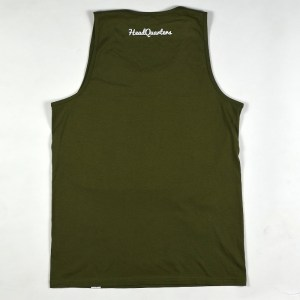 """""""Stronger Than Yesterday"""" Tank Military Green"""