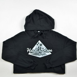 WMNS HeadQuarters Cropped Hoodie Black