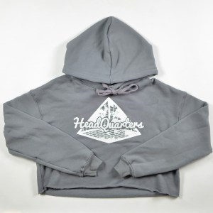 WMNS HeadQuarters Cropped Hoodie Grey