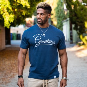 """Greatness"" Tee Harbor Blue"