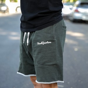 HeadQuarters Sweat Shorts Green Heather