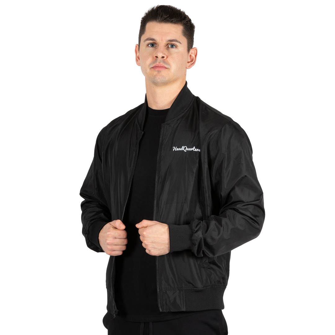 HeadQuarters Lightweight Bomber Jacket Black