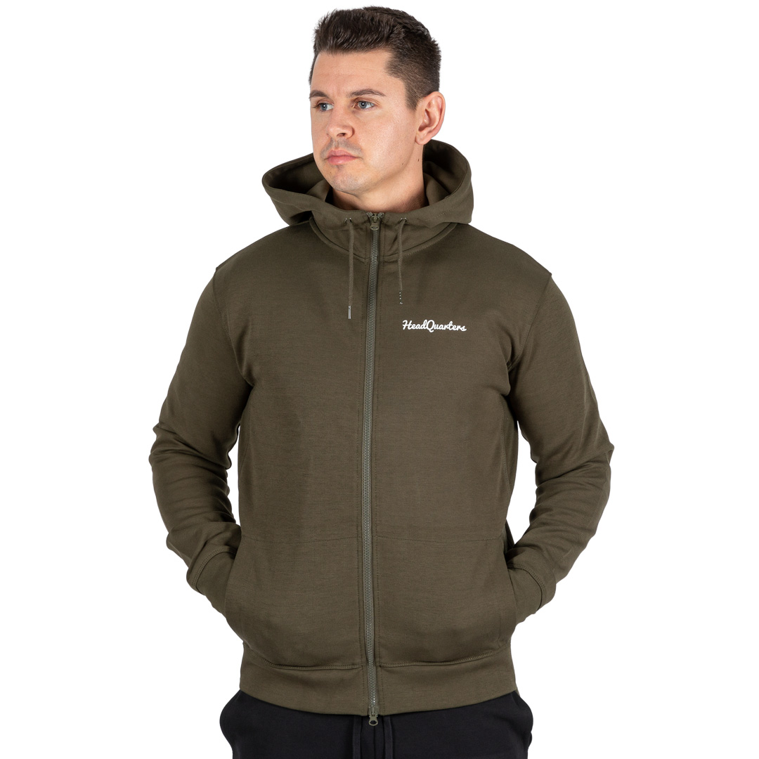 HeadQuarters Tech Fleece Full-Zip Hoodie Olive