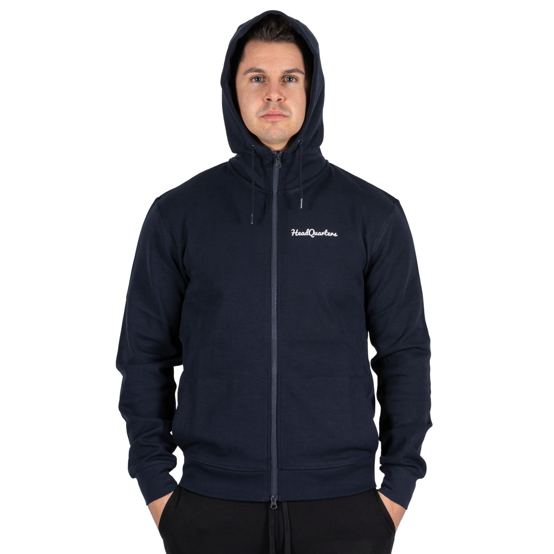 HeadQuarters Tech Fleece Full-Zip Hoodie Navy