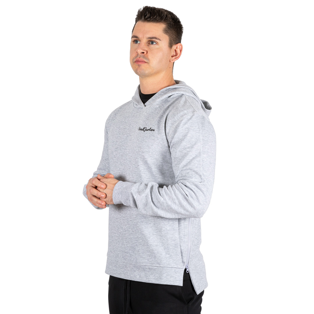 HeadQuarters Tech Fleece Side Zip Hoodie Grey