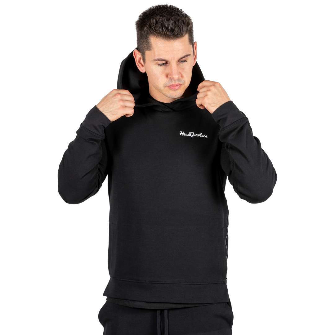 HeadQuarters Tech Fleece Side Zip Hoodie Black