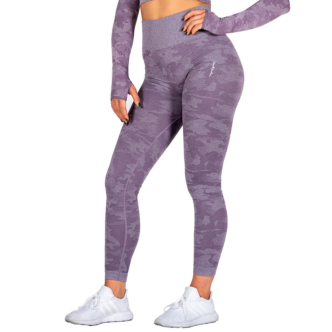 HeadQuarters Camo Seamless Leggings Purple