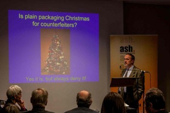 ASH talking plain packaging