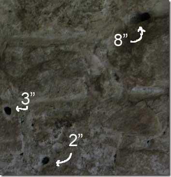Granite holes