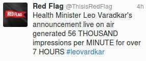 Twitter - Varadkar trending