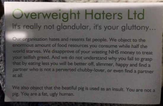 Overweight Haters Ltd