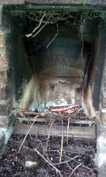 Crap in the fireplace