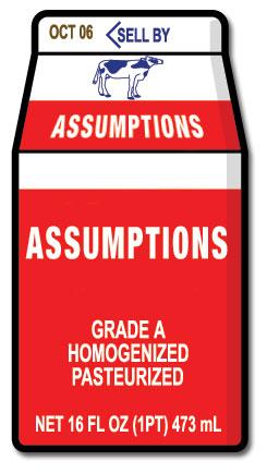 Milk Assumptions
