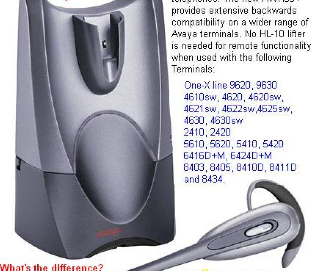 Plantronics Avaya Awh 55 Digital Wireless Headset Discontinued