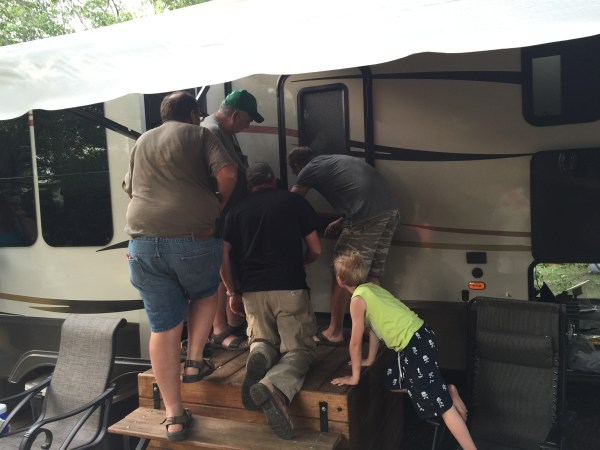 Toddler Trapped in Camper